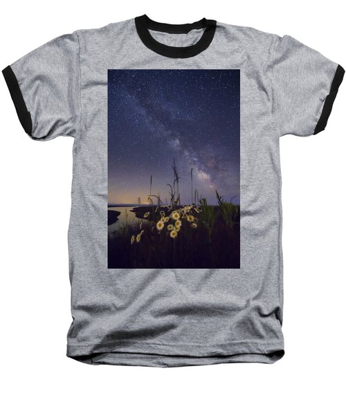 Wild Marguerites Under The Milky Way Baseball T-Shirt