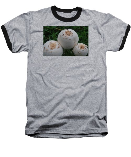 Baseball T-Shirt featuring the photograph Wild Mushrooms by Miguel Winterpacht