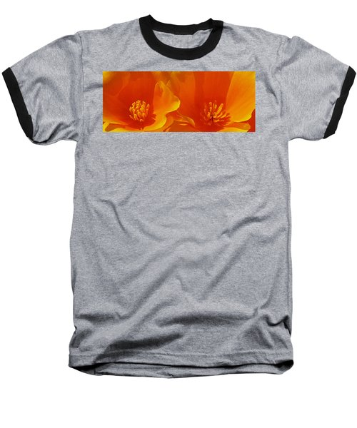 Wild Poppies Baseball T-Shirt by Ben and Raisa Gertsberg