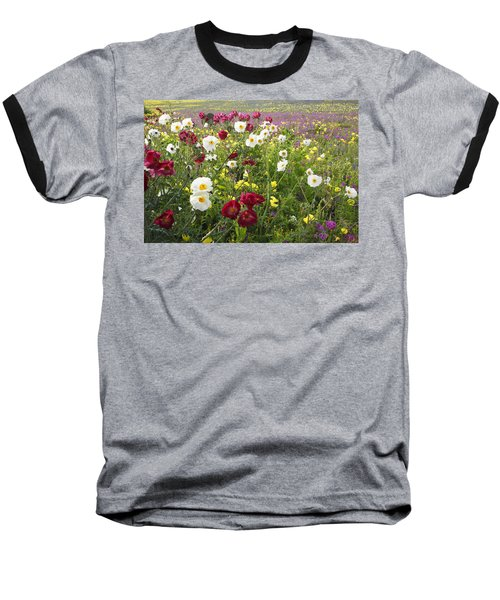 Wild Poppies South Texas Baseball T-Shirt
