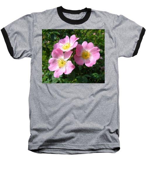 Wild Roses 1 Baseball T-Shirt