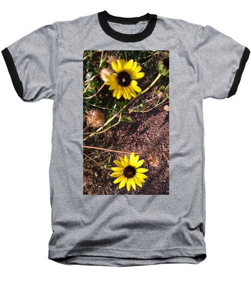 Baseball T-Shirt featuring the photograph Wild Sunflowers by Fortunate Findings Shirley Dickerson