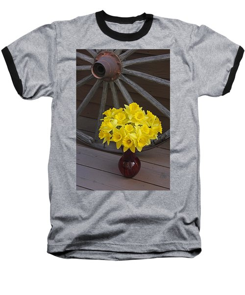 Baseball T-Shirt featuring the photograph Wild West Daffodils by Diane Alexander
