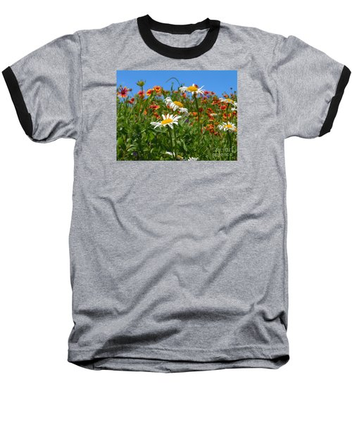 Baseball T-Shirt featuring the photograph Wild White Daisies #1 by Robert ONeil