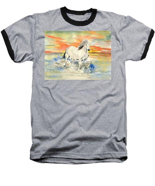 Wild White Horse Baseball T-Shirt