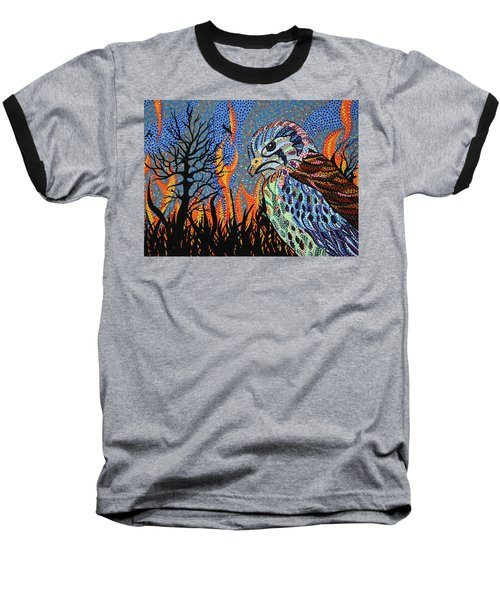 Wildflire Baseball T-Shirt by Erika Pochybova