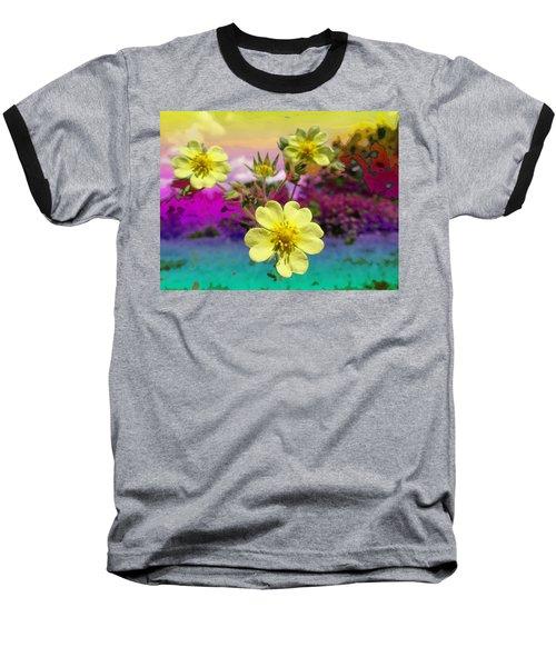 Wildflower Abstract Baseball T-Shirt
