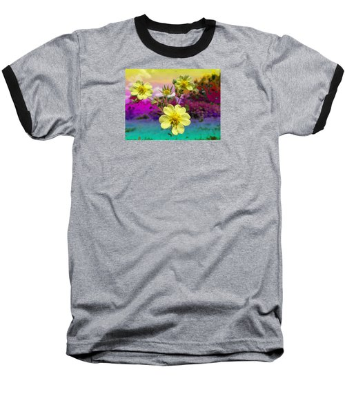 Wildflower Abstract Baseball T-Shirt
