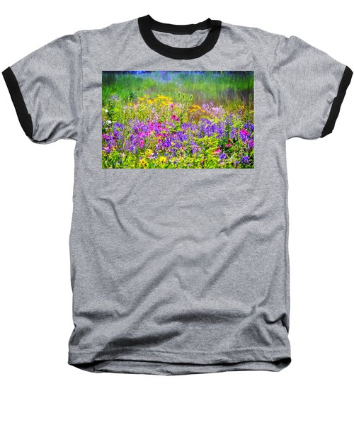 Wildflower Beauty  Baseball T-Shirt
