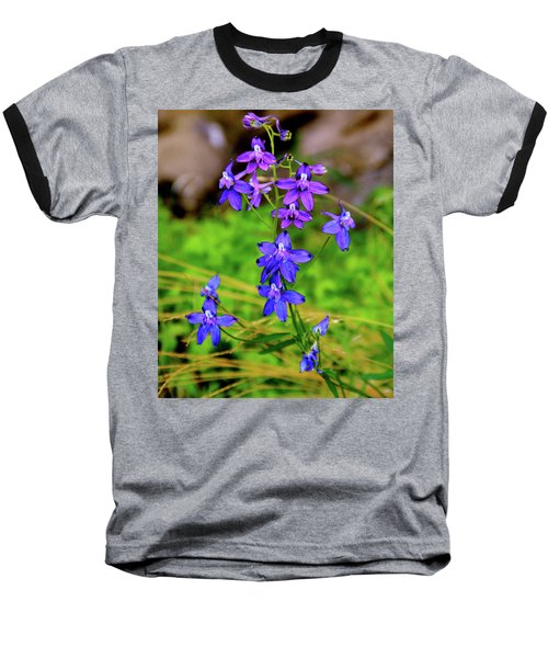 Wildflower Larkspur Baseball T-Shirt