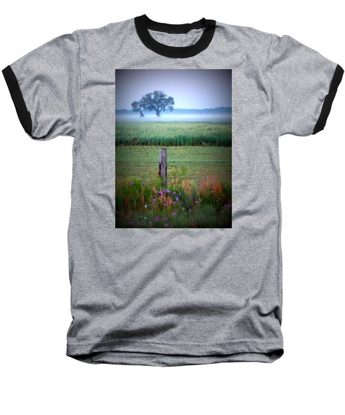 Wildflowers And Fog Baseball T-Shirt