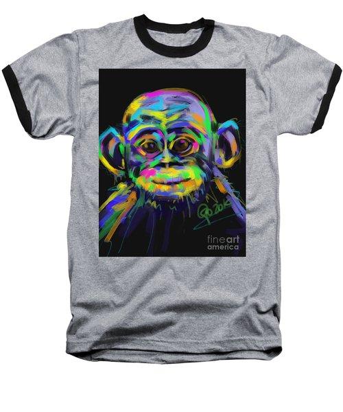 Wildlife Baby Chimp Baseball T-Shirt