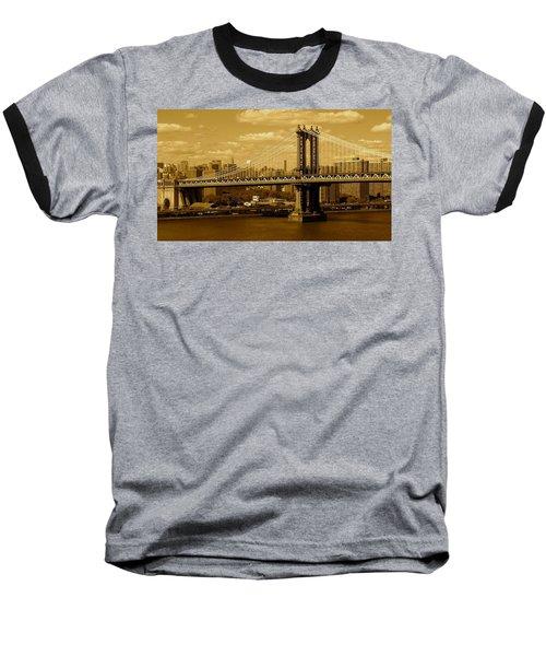 Williamsburg Bridge New York City Baseball T-Shirt