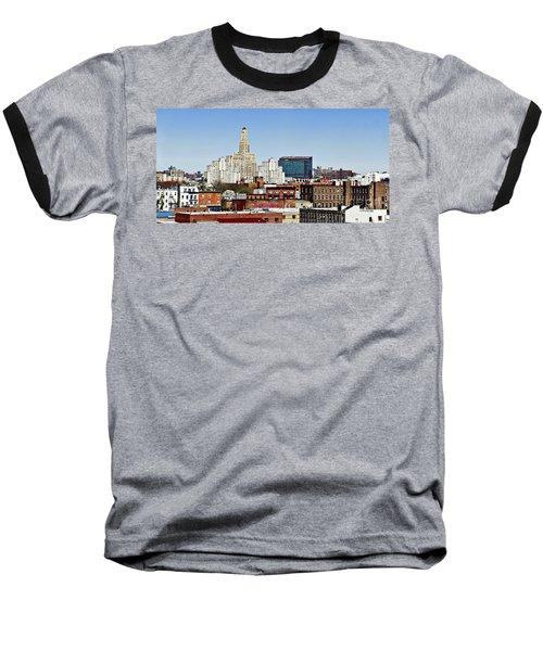 Williamsburg Savings Bank In Downtown Brooklyn Ny Baseball T-Shirt by Lilliana Mendez