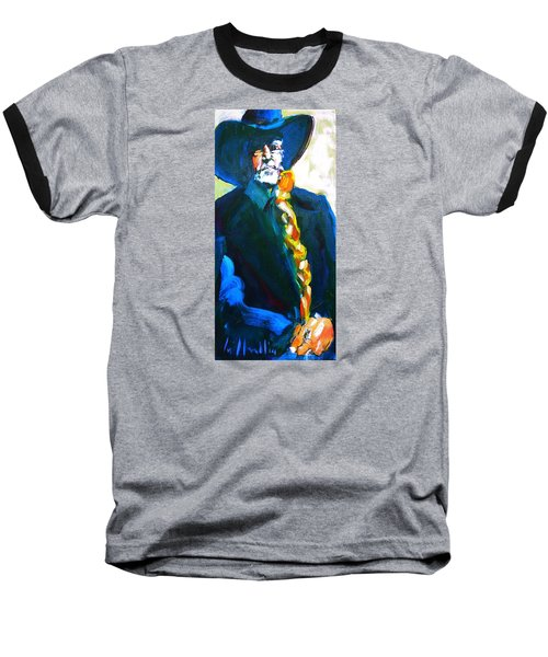 Baseball T-Shirt featuring the painting Willie by Les Leffingwell