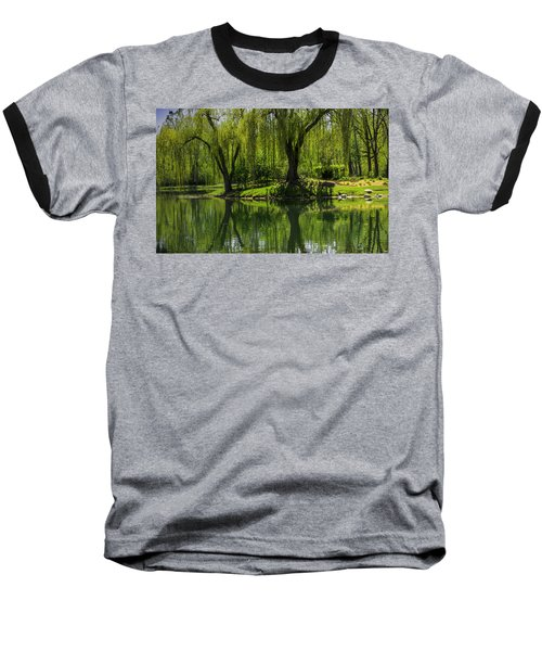 Willows Weep Into Their Reflection  Baseball T-Shirt