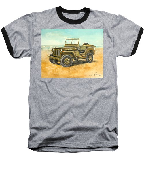 Willys Jeep Baseball T-Shirt