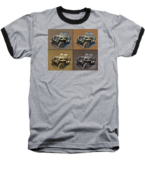 Willys Jeep Mb Car Drawing Baseball T-Shirt