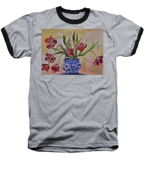 Wilting Tulips Baseball T-Shirt