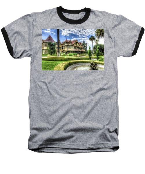 Winchester Mystery House Baseball T-Shirt by Jim Thompson