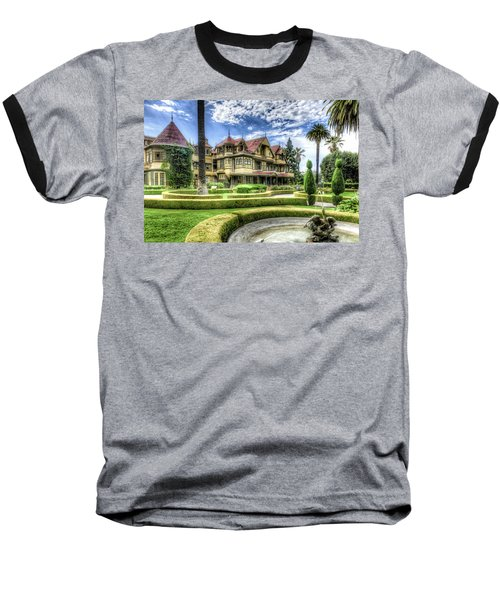 Baseball T-Shirt featuring the photograph Winchester Mystery House by Jim Thompson