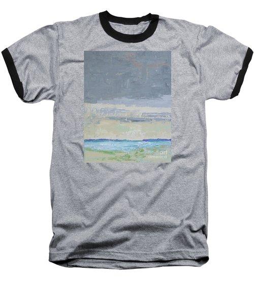 Wind And Rain On The Bay Baseball T-Shirt by Gail Kent