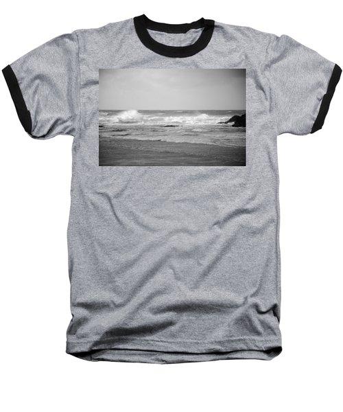 Wind Blown Waves Tofino Baseball T-Shirt by Roxy Hurtubise