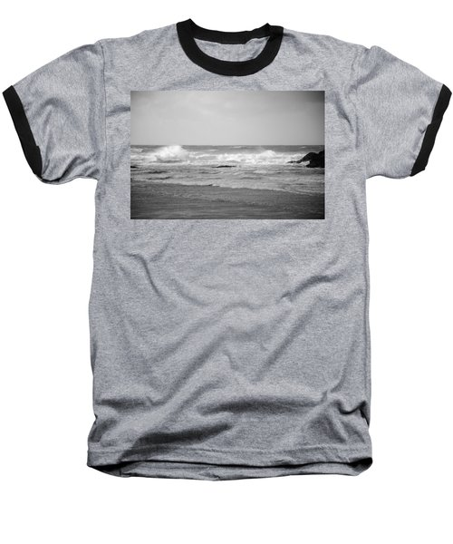 Wind Blown Waves Tofino Baseball T-Shirt
