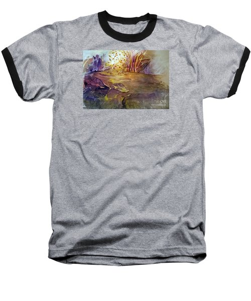 Baseball T-Shirt featuring the painting Wind In Fall by Allison Ashton