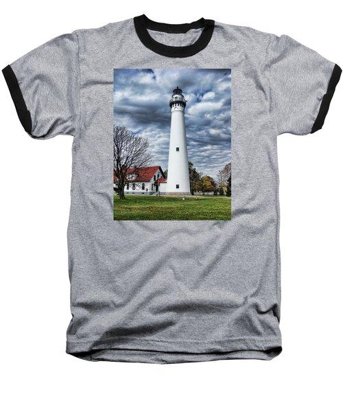 Wind Point Lighthouse Baseball T-Shirt
