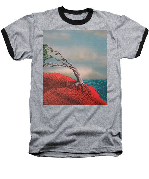Wind Swept Tree Baseball T-Shirt