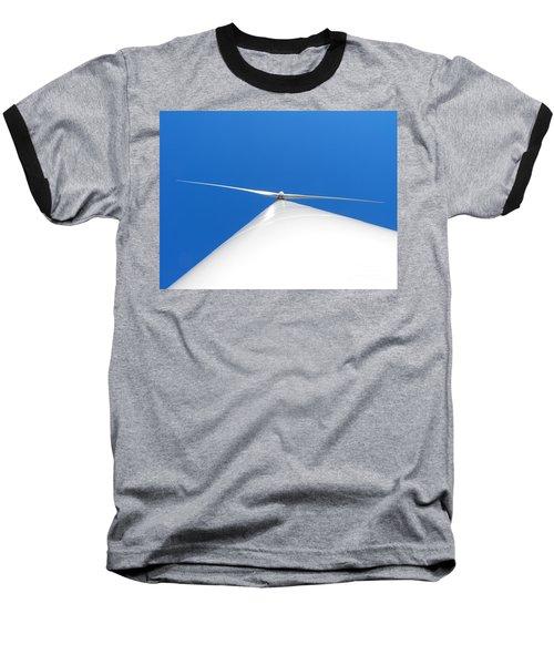 Wind Turbine Blue Sky Baseball T-Shirt