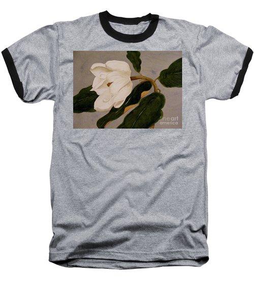 Baseball T-Shirt featuring the painting Windblown Magnolia by Nancy Kane Chapman