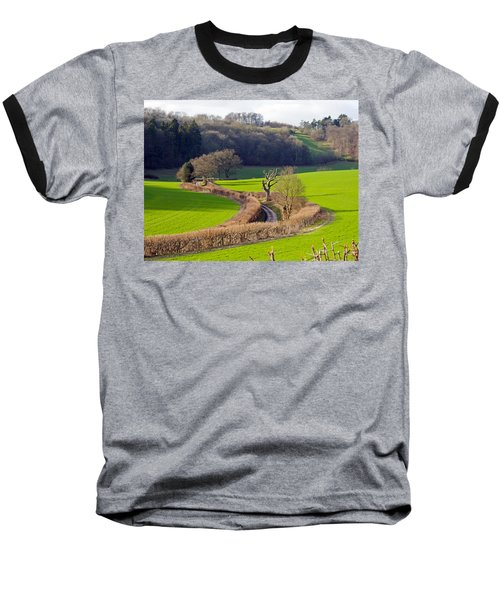 Winding Country Lane Baseball T-Shirt
