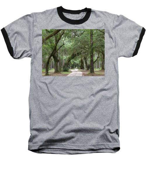 Winding Dirt Road Baseball T-Shirt