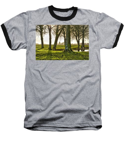 Windmill And Trees In Groningen Baseball T-Shirt
