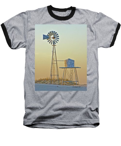 Windmill At Dawn 2011 Baseball T-Shirt