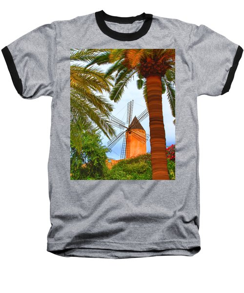 Windmill In Palma De Mallorca Baseball T-Shirt
