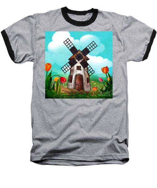 Windmill Path Baseball T-Shirt
