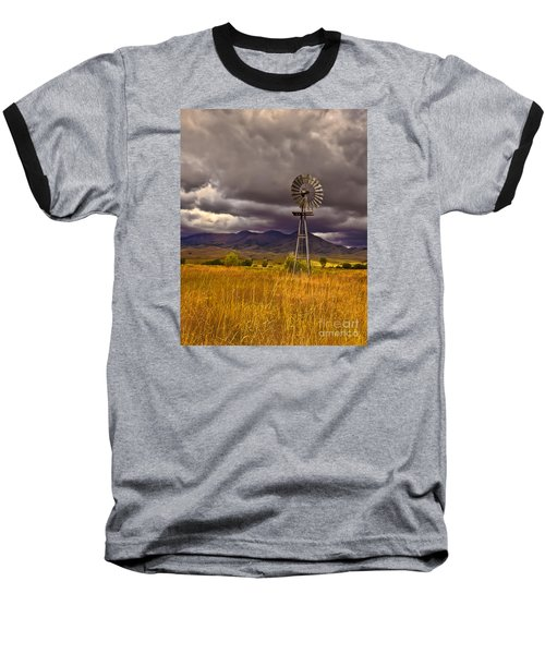 Windmill Baseball T-Shirt by Robert Bales