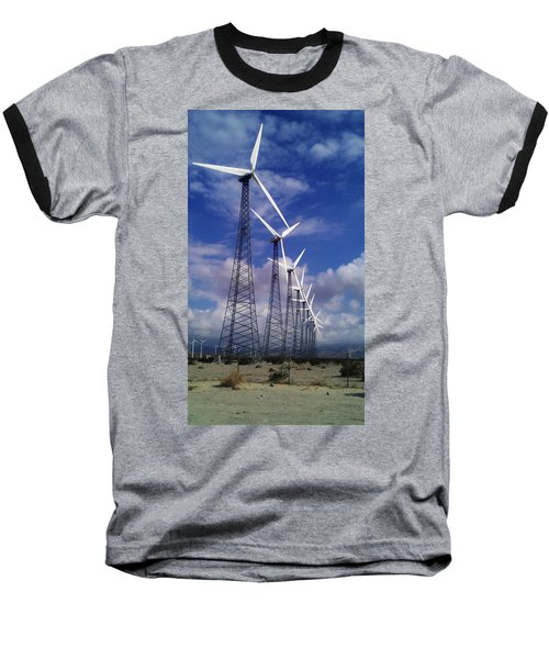 Windmills Baseball T-Shirt by Chris Tarpening