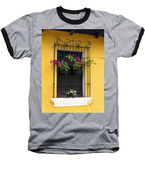 Window At Old Antigua Guatemala Baseball T-Shirt