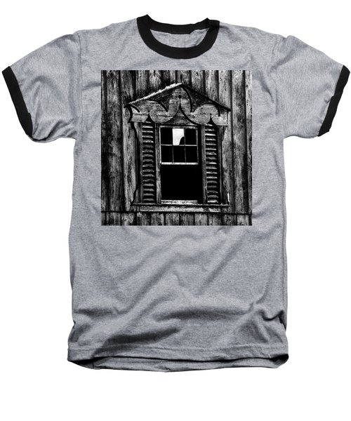 Window Pane Baseball T-Shirt by Robert Geary