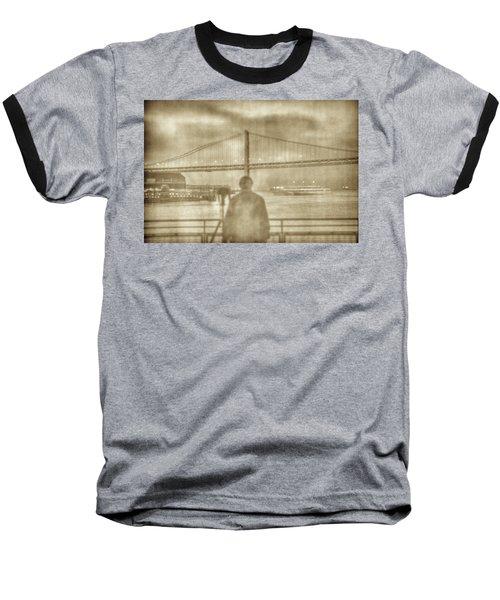 window self-portrait Embarcadero San Francisco Baseball T-Shirt
