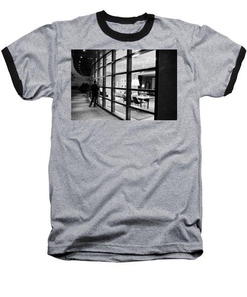 Window Shopping In The Dark Baseball T-Shirt by Melinda Ledsome