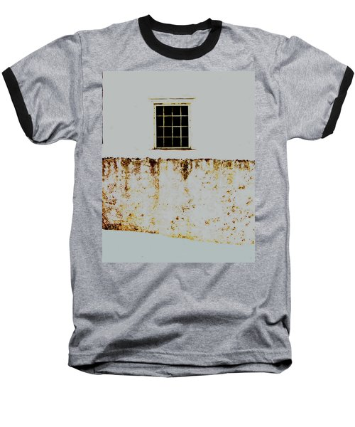 Window Wall And Snow Baseball T-Shirt
