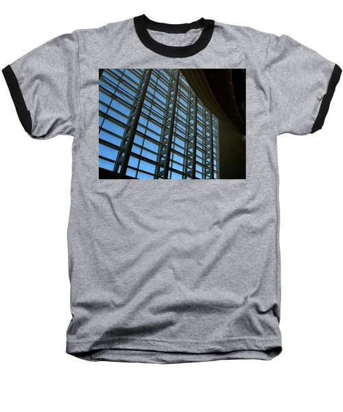 Window Wall At The Adrienne Arsht Center Baseball T-Shirt by Greg Allore