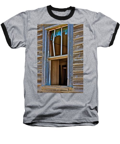 Baseball T-Shirt featuring the photograph Window With A Light by Johanna Bruwer