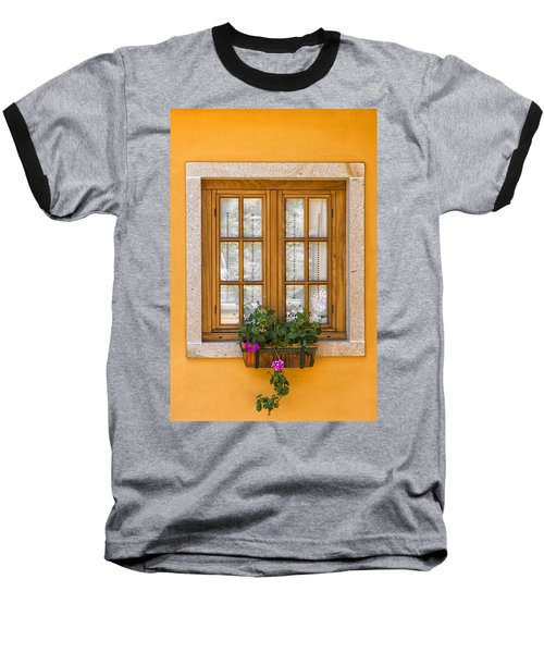 Window With Flowers Baseball T-Shirt