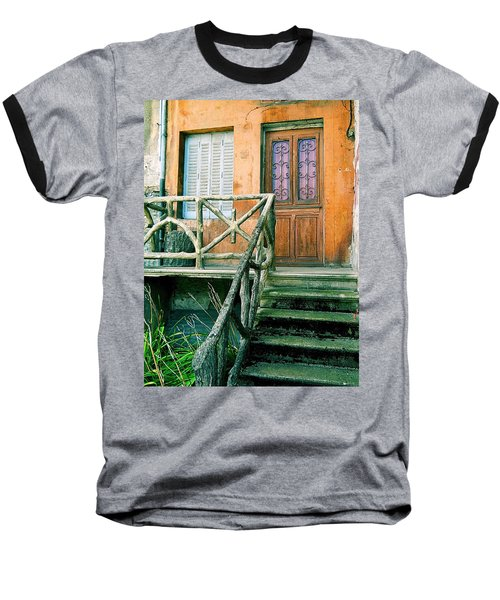 Baseball T-Shirt featuring the photograph Windows And Doors 25 by Maria Huntley